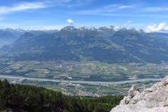 Blick ins Rheintal vom Fürstentsteig