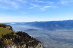 Blick vom Hohen Kasten ins Rheintal
